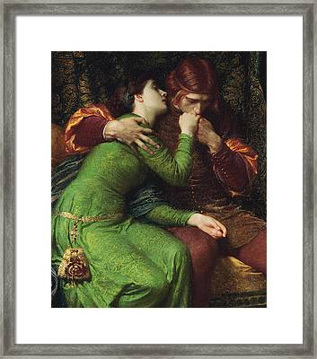 Paolo And Francesca Framed Print by Sir Frank Dicksee