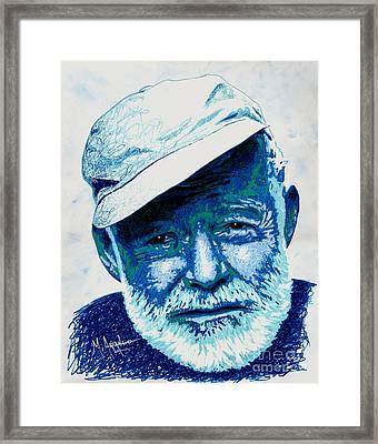 Papa Hemingway Framed Print