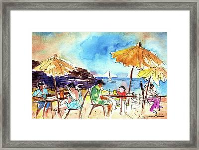 Papagayo Beach Bar In Lanzarote Framed Print