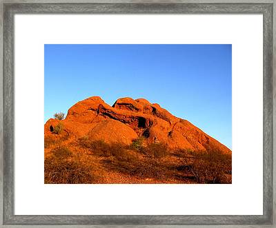 Framed Print featuring the photograph Papago Park 2 by Michelle Dallocchio