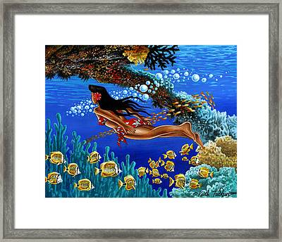 Papaku Means Bottom Of The Ocean In Hawaiian Framed Print by Keith Tucker