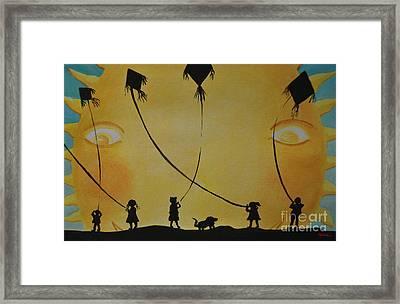 Papalotes Kites Framed Print