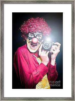 Paparazzi Taking Photograph At Red Carpet Event Framed Print