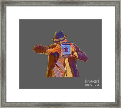 Paparazzi Tee Framed Print by Edward Fielding