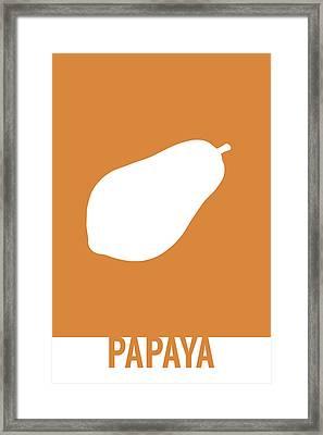 Papaya Food Art Minimalist Fruit Poster Series 017 Framed Print by Design Turnpike