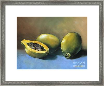 Papaya Framed Print by Han Choi - Printscapes