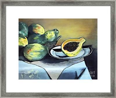 Papaya Still Life Framed Print