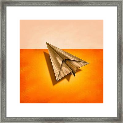 Paper Airplanes Of Wood 18 Framed Print
