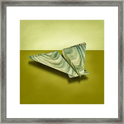 Paper Airplanes Of Wood 19 Framed Print