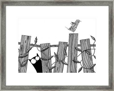 Paper Bird Framed Print