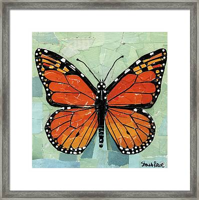Paper Butterfly - Monarch Framed Print
