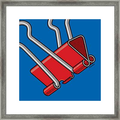 Framed Print featuring the digital art Paper Clamp by Ron Magnes