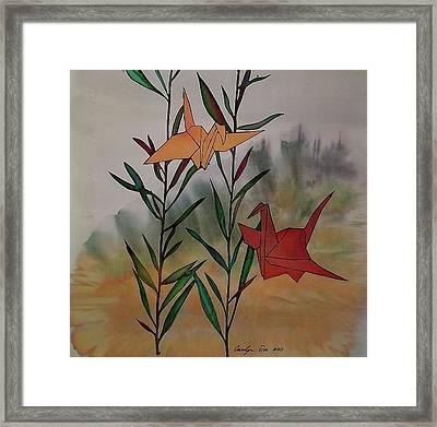 Paper Cranes 1 Framed Print