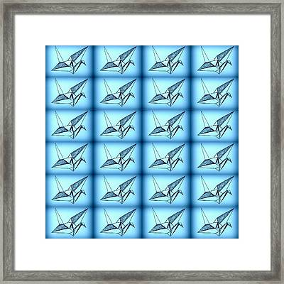 Paper Cranes Framed Print by Cathy Jacobs