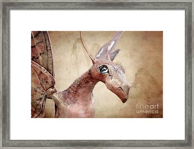 Paper Dragon Framed Print by Ellen Cotton