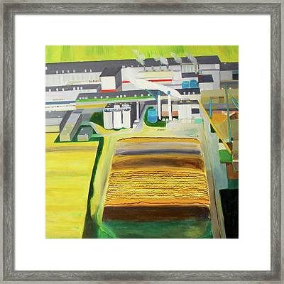 Paper Factory Framed Print by Toni Silber-Delerive