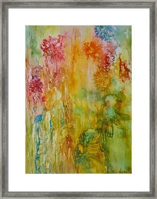 Paper Flowers Framed Print by Rosie Brown