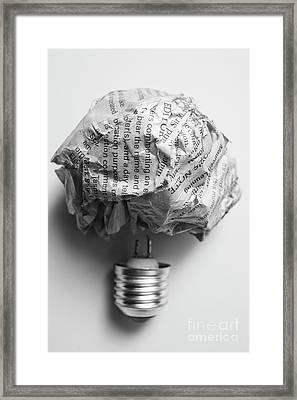 Paper Light Bulb Framed Print by Jorgo Photography - Wall Art Gallery