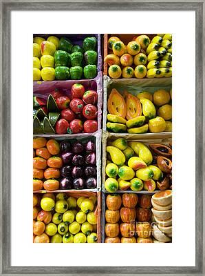 Paper Mache Fruits Framed Print by Gloria & Richard Maschmeyer - Printscapes
