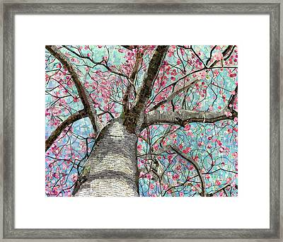 Framed Print featuring the mixed media Paper Magnolias by Shawna Rowe