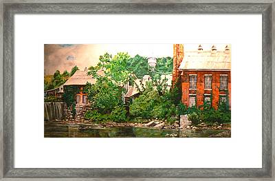 Paper Mill Framed Print by Thomas Akers