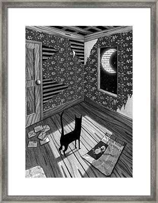 Paper Moon Framed Print by Andrew Hitchen
