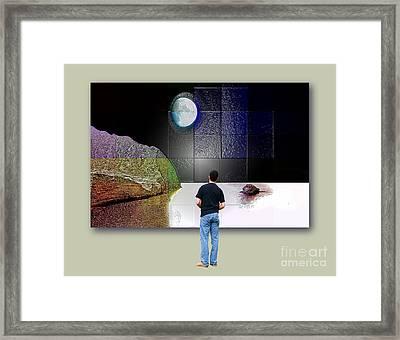 Paper Moon Framed Print by Ayesha DeLorenzo