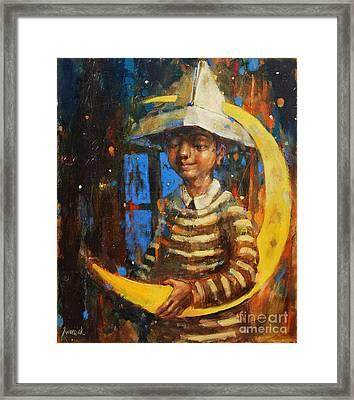 Paper Moon Framed Print by Michal Kwarciak