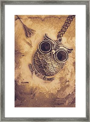 Paper Pendant Owl Framed Print