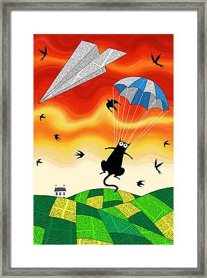 Paper Plane  Framed Print by Andrew Hitchen