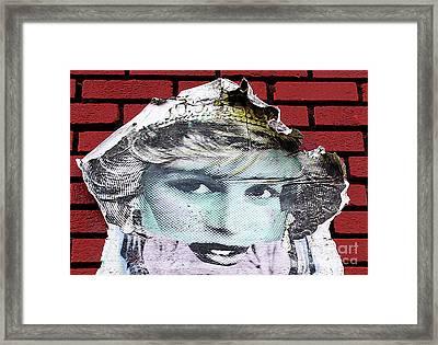 Paper Princess Framed Print by Ethna Gillespie