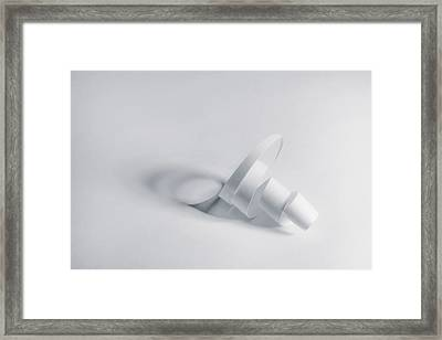 Paper Spiral Framed Print by Scott Norris