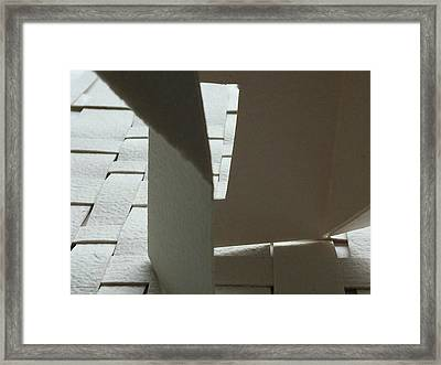 Paper Structure-1 Framed Print