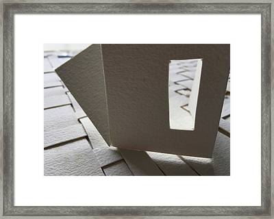 Paper Structure-3 Framed Print