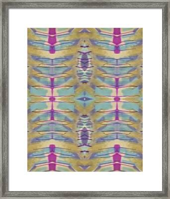 Paper Thin Framed Print by Modern Metro Patterns and Textiles