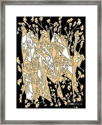 Paper Trails Framed Print by Nancy Kane Chapman