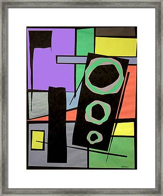 Papercut Framed Print by Teddy Campagna