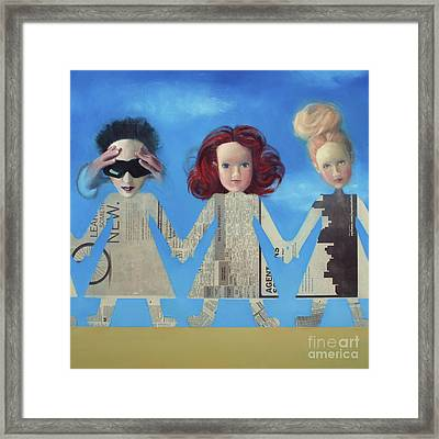 Paperdolls Framed Print by Cathy Jacobs