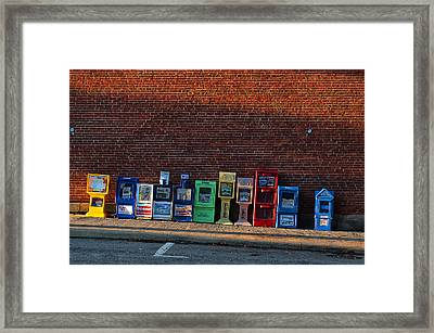 Papers For Sale Framed Print