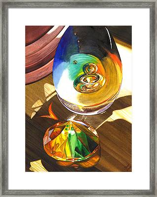 Paperweights Framed Print by Catherine G McElroy
