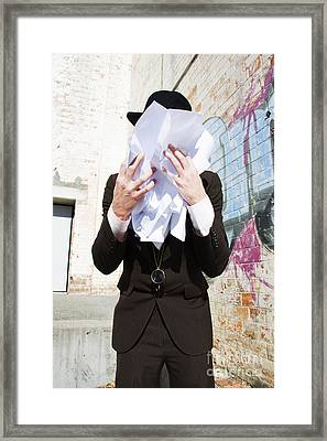 Paperwork Tears Framed Print by Jorgo Photography - Wall Art Gallery