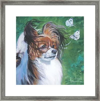 Papillon And Butterflies Framed Print by Lee Ann Shepard