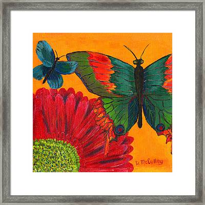 Papillon Jaune Framed Print by Debbie McCulley