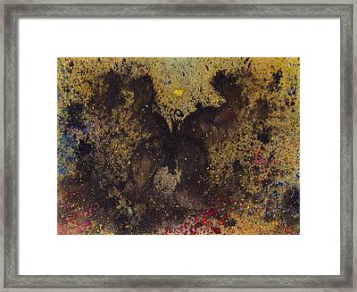 Framed Print featuring the painting Papillon Noir - Dark Butterfly - Mariposa Negra by Marc Philippe Joly