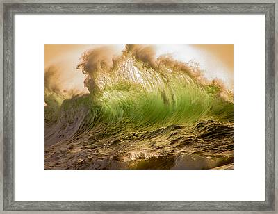 Papohaku Waves Framed Print
