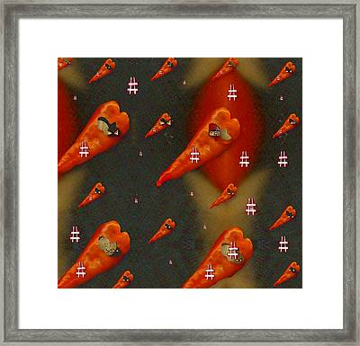 Paprika And Fish Is Also A Dish Framed Print