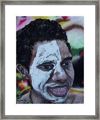 Papua New Guinea Meri Framed Print by Carol Tsiatsios