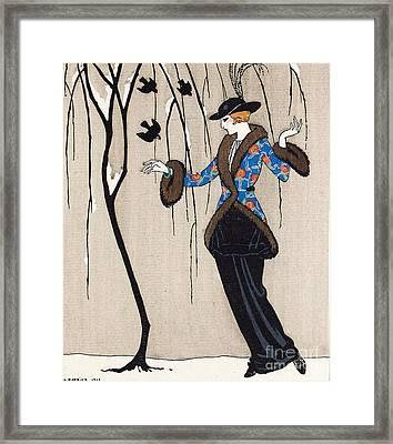 Paquin Dress, George Barbier Framed Print