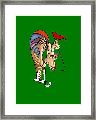 Par For The Course T-shirt Framed Print by Anthony Falbo