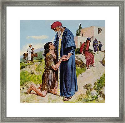 Parable Of The Prodigal Son Framed Print by Clive Uptton